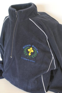 Navy Fleece Jacket with logo