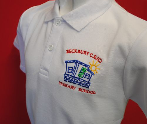 Beckbury White  Polo Shirt